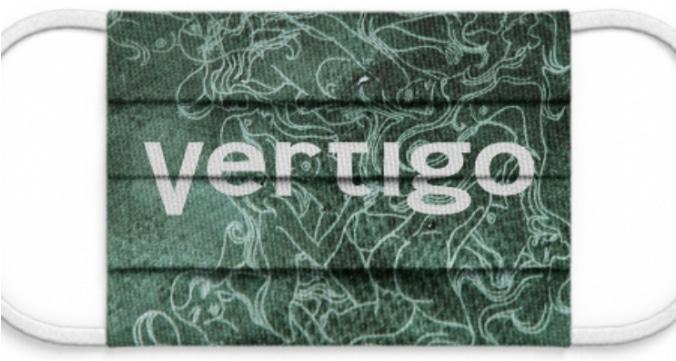 """Maske: """"Vertigo"""" grün"""